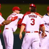 Cardinals win on controversial walk-off double from Yadier Molina