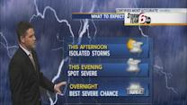 Expect severe weather Wednesday night