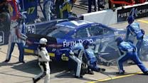 Stenhouse Jr. makes contact with the wall
