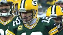 Green Bay Packers quarterback Aaron Rodgers sneaks for 1-yard touchdown