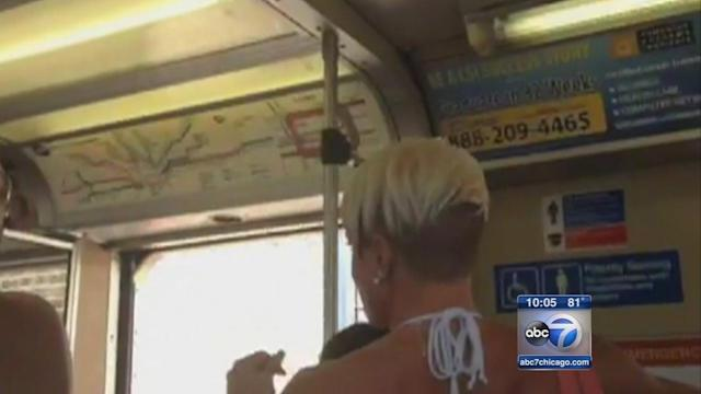 Passenger captures Blue Line train moving with doors open