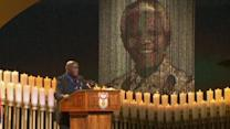 A funeral service for Nelson Mandela