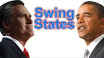 Candidates' strategies in key swing states