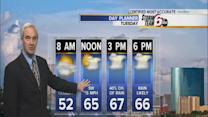 T'storms possible Tuesday