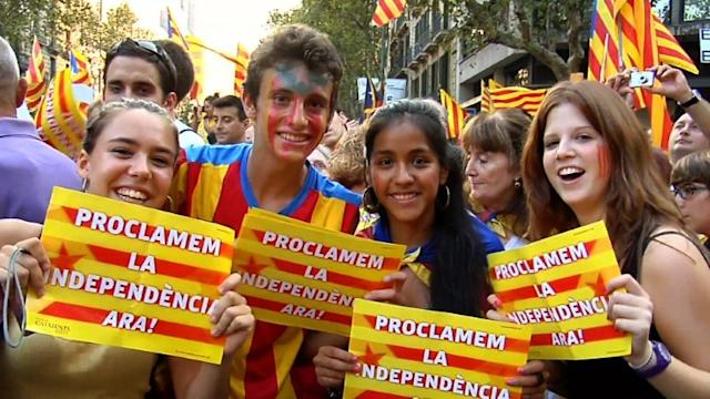 Catalanes reclaman independencia