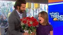 Congrats! Bradley Cooper Gives Savannah Bouquet