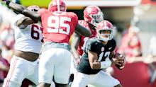 Tua Tagovailoa dazzles in Alabama debut, but Jalen Hurts' starting job is and should be safe