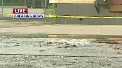 Water Main Break Floods Front St., Southern Road