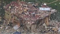 Massive house explosion levels Texas home