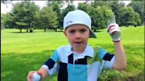 Boy, 5, makes rap video about golf