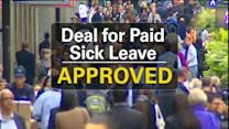 Deal made on paid sick leave in NYC