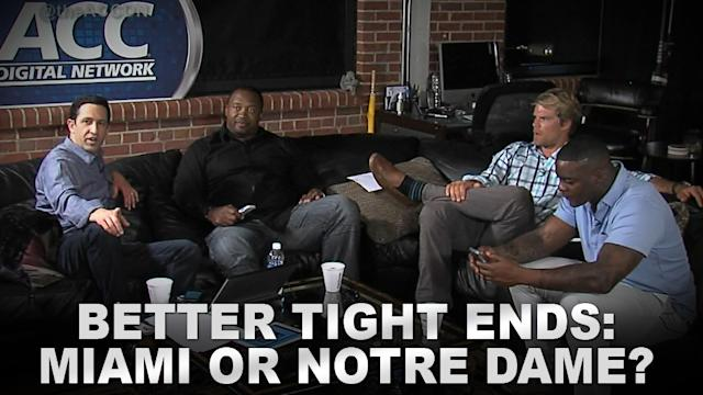 Better Tight Ends: Miami or Notre Dame?