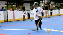 Pens Prospects Coach Local Kids In Dek Hockey