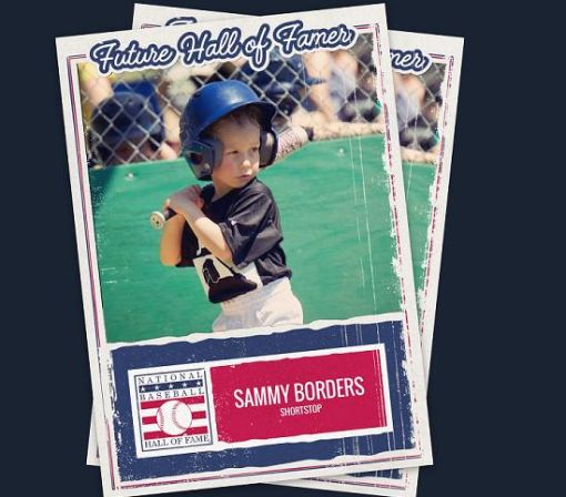 Create and share your own Hall of Fame baseball card