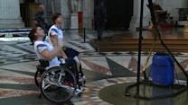 Cathedral warm-up for Paralympic athletes