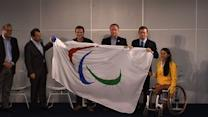 Rio unfurls Paralympic flag ahead of 2016 Games