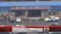 1 Injured After Car Crashes Through Restaurant In Bustleton