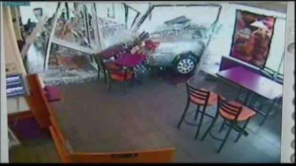 Car slams through window of Philly Dunkin Donuts
