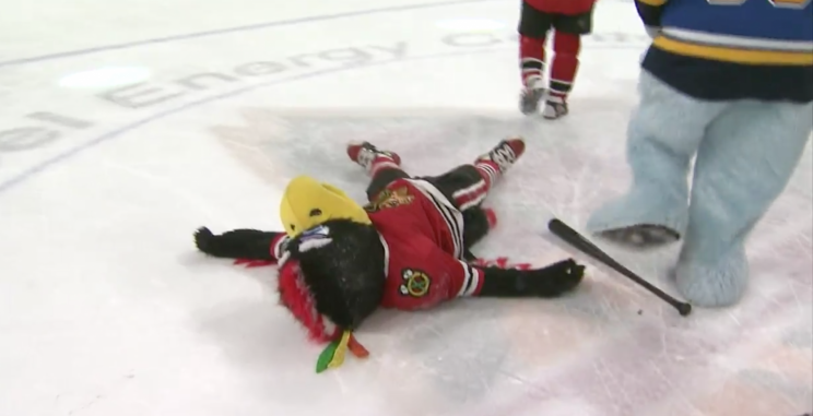 Did Minnesota Wild take mascot violence too far?