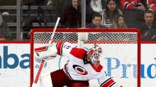 Carolina Hurricanes goalie only suffers strain after neck scare