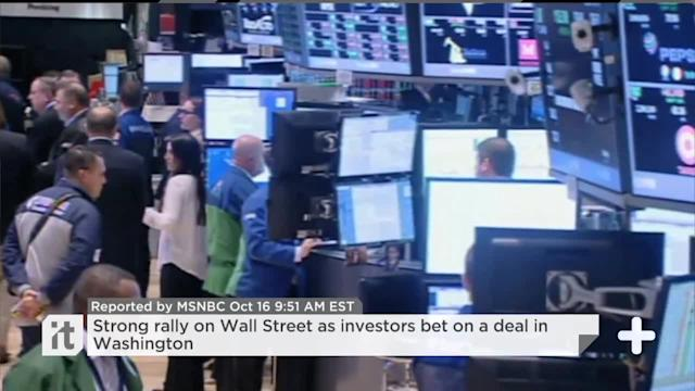 Strong Rally On Wall Street As Investors Bet On A Deal In Washington