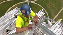 Breathtaking Helmet-Cam View of Washington Monument