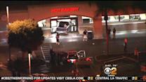 Man Rams Truck Into Car, Bank, Grocery Store In Whittier Parking Lot