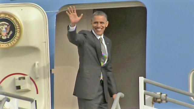 President Obama leaves LA, heads north for more fundraisers