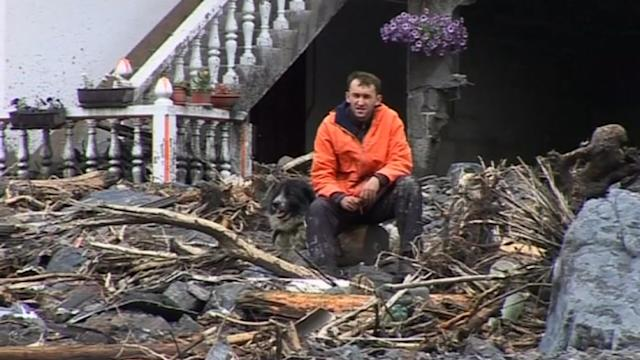 Bosnian flood victim: