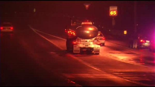 Man struck, killed while standing on I-495