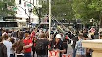 Hundred gather in Oakland for May Day events