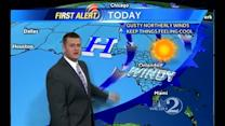 Sunday Outlook: Sunny, Cool & Windy; Cold Temps Overnight