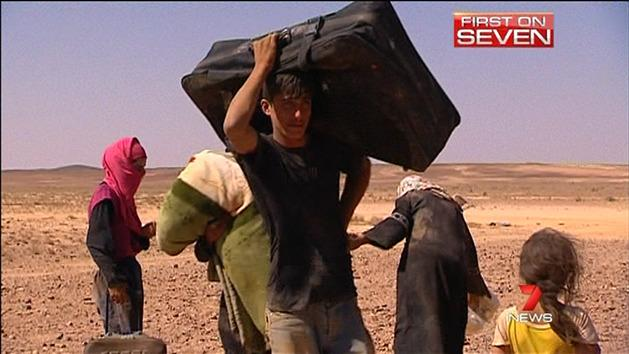 Syrian refugees flee to Jordan