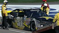 Kwasniewski to back-up car after violent crash