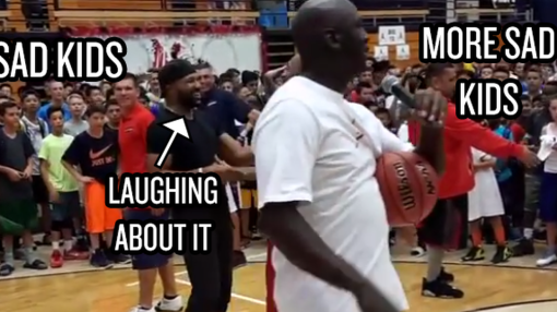 Michael Jordan, Chris Paul and Derek Fisher spent a whole afternoon disappointing children
