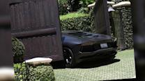 Kanye West's $750,000 Lamborghini Crashes Into Kim Kardashian's Gate