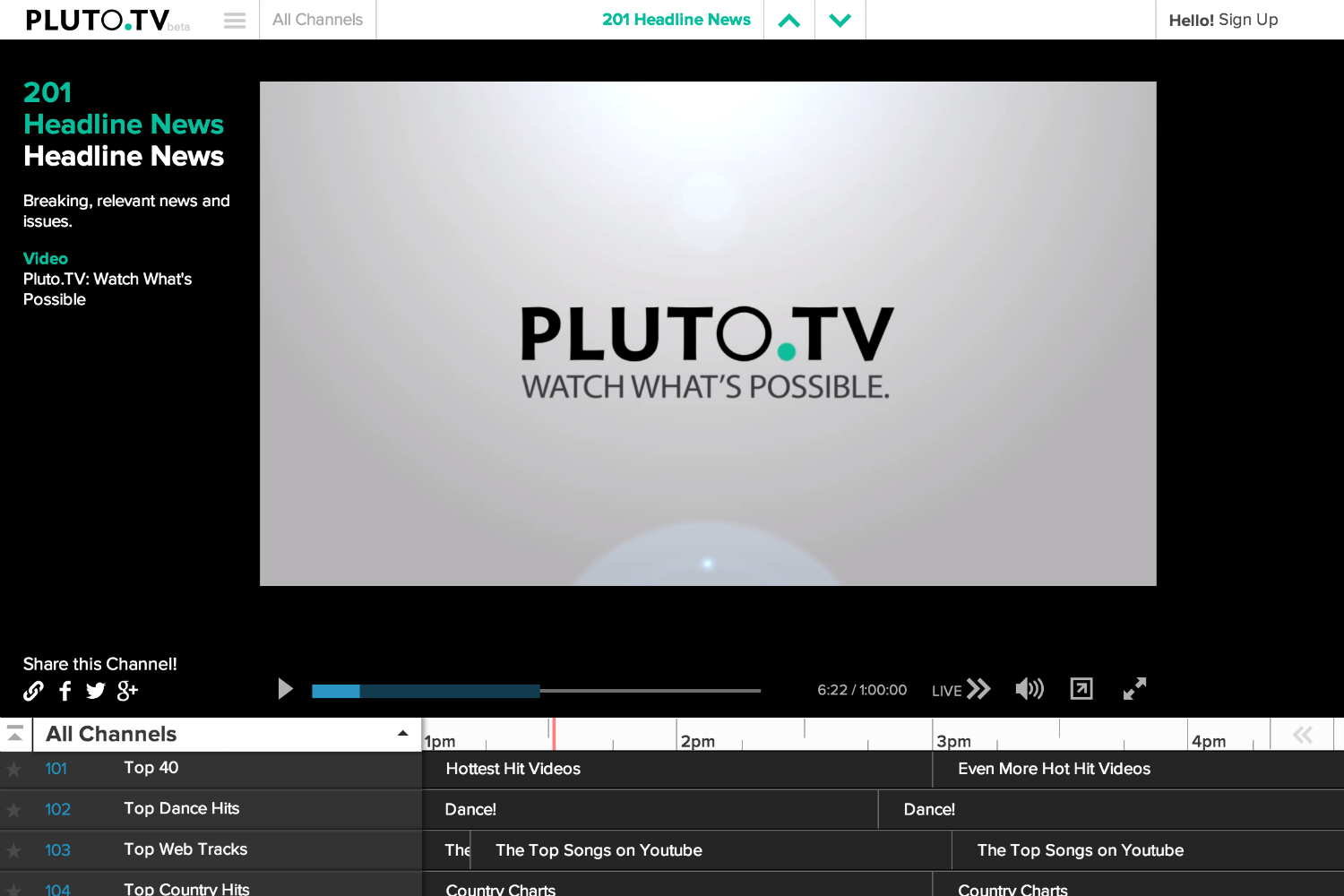 How To Slow Down Youtube Videos Pluto Aims To Bring Tv To The Internet