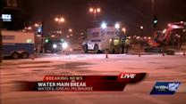 Water main repair in downtown Milwaukee