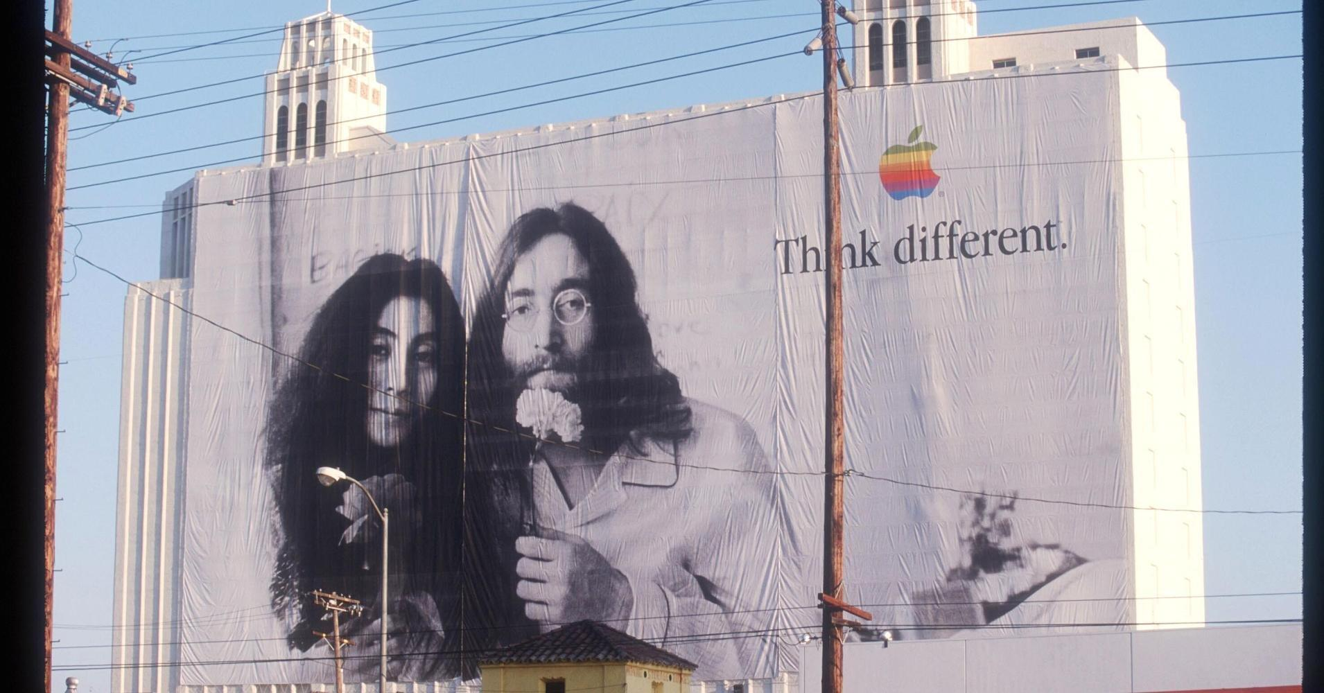 """analysis of apple advertising think different The history of the apple logo -  art director of the advertising company regis mckenna  for example """"the power to be your best"""" or """"think different""""."""