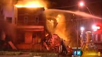 Fire, partial building collapse in South Side Park Manor area at 73rd and Vincennes