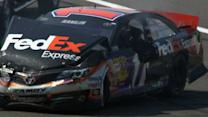 Hamlin In Crash After Final Lap Contact With Logano