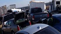 Massive pileup shuts I-10 in Texas