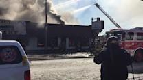 Fire erupts in Oklahoma City