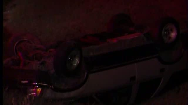 Rollover accident on downtown IDL