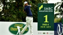 Scott joint leader as storm disrupts Singapore Open golf