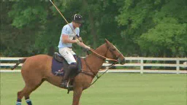 Prince Harry closes trip with polo match