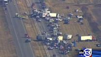 ABC13 team coverage of massive I-10 pileup
