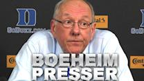 Syracuse's Jim Boeheim Speaks After Ejection At Duke