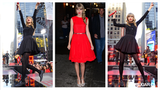 Taylor Swift Paints the Town Red Promoting Her New Album