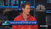 NASCAR star stops by NYSE